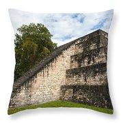 Tikal Mayan Site Guatemala Throw Pillow