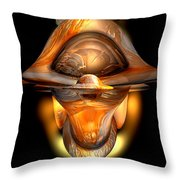 Tiki Abstract Throw Pillow