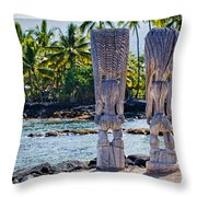 Tiki Butts Throw Pillow
