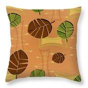 Tiki Lounge Wallpaper Pattern Throw Pillow