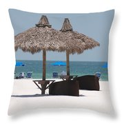 Tiki On The Gulf Throw Pillow