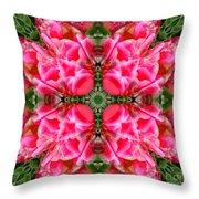 Tiki Tulip Mandala Throw Pillow