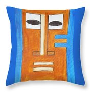 Tikki Mask  Throw Pillow