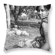 Tilak Devi 1985 Throw Pillow