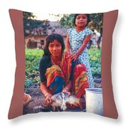 Tilak Devi 1995 Throw Pillow
