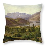 Tile Fjord Throw Pillow