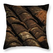 Tile Roof 1 Throw Pillow