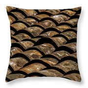Tile Roof 2  Throw Pillow