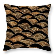 Tile Roof 3 Throw Pillow