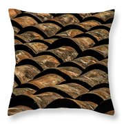 Tile Roof 4 Throw Pillow