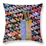 Tile Roof, Spain Throw Pillow
