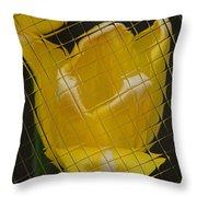 Tiled Yellow Tulip Throw Pillow