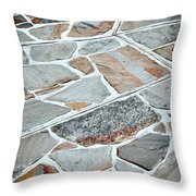 Tiles From Sandstone Quarried Stone Throw Pillow