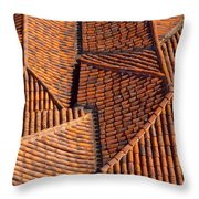 Tiles Kiss Throw Pillow