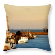 Tilghman Island Maryland Throw Pillow