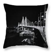 Tilikum Crossing Cutting Through The Night Throw Pillow