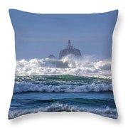 Tillamook Rock Lighthouse Throw Pillow
