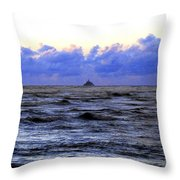 Tillamook Rock Lighthouse Throw Pillow