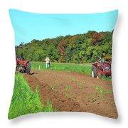 Tilled Soil   Throw Pillow