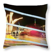 Tilt-a-whirl 2 Throw Pillow