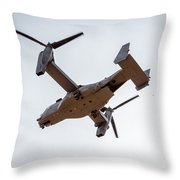 Tilt Rotor Helicopter #1 Throw Pillow