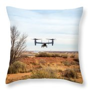 Tilt Rotor Helicopter #2 Throw Pillow
