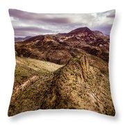 Tilt-shift Mountain Peak Throw Pillow