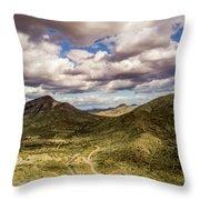 Tilt-shift Mountain Road Throw Pillow