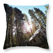 Tilted House, Real Estate Series Throw Pillow