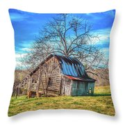 Tilted Log Cabin Throw Pillow