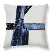 Timber Framing Detail Throw Pillow