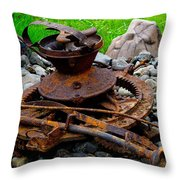 Timber Gears Built The West Throw Pillow