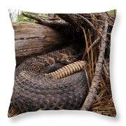 Timber Rattlesnake Throw Pillow