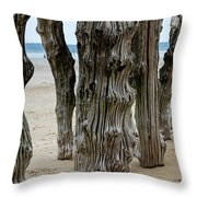 Timber Textures Lv Throw Pillow