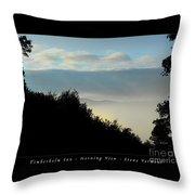 Timberholm Inn Morning View Stowe Vt Poster Throw Pillow