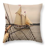 Timberwind Off The Bow Throw Pillow
