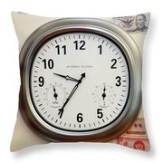 Time And Money Throw Pillow
