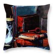 Time And Old Friends Throw Pillow