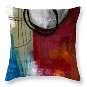 Time Between- Abstract Art Throw Pillow