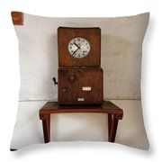 Time Clock Throw Pillow