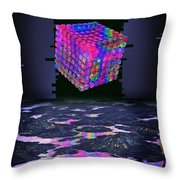 Time Cube Throw Pillow