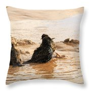 Time For A Mud Bath Throw Pillow