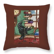 Time For Learning Throw Pillow