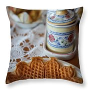 Time For Waffle Throw Pillow