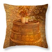 Time For Wine - 6015 Throw Pillow