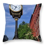 Time For Work Throw Pillow