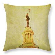 Time Honored Throw Pillow by Toni Hopper