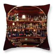 Time In A Bottle - Croce's Place Throw Pillow