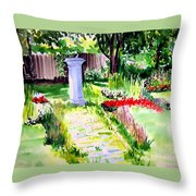 Time In A Garden Throw Pillow