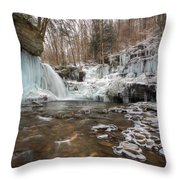 Time Is A Stream Throw Pillow